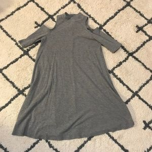 Cold Shoulder Grey Dress!